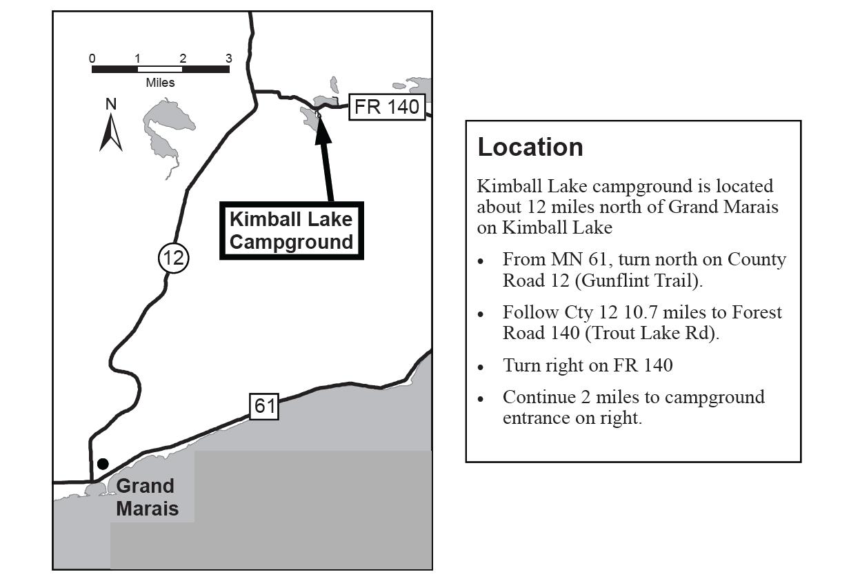 kimball lake campground map Kimball Lake Campground Great Lakes Drive kimball lake campground map